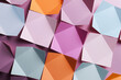canvas print picture - Abstract composition with paper folded in geometric shapes, 3d illustration