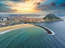 San Sebastian. Aerial View In ...