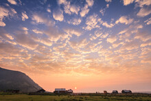 Amazing Village Sunrise Landsc...