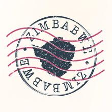 Zimbabwe Stamp Map Postal Desi...