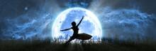 Woman Dancing On The Backgroun...