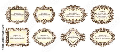 Vector set of beautiful vintage frames Slika na platnu