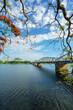 Truong Tien bridge crossing Huong river in Hue city, Vietnam