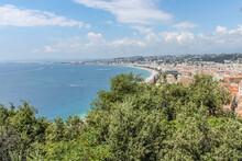 Panoramas Sur La Baie Des Anges Et Le Vieux Nice