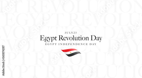 Tela July 23 Revolution, Independence day of Egypt Greeting Card - Egypt flag