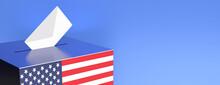 US Election. USA Flag Ballot B...