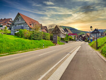 Alsace. Traditional Houses In ...