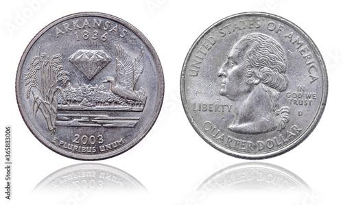 Tela Quarter dollar coin. Arcansas. USA. 2003 year