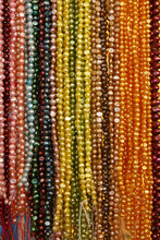 String Of Colorful Bead Necklace On Retail Display