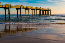 St Johns County Ocean Pier On St. Austine Beach, St. Augustine, Florida, USA