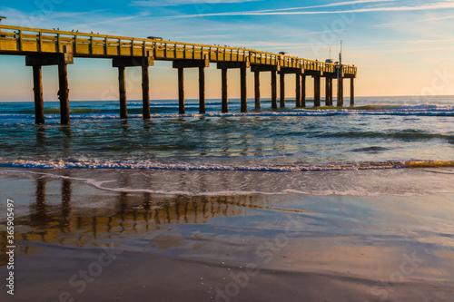 St Johns County Ocean Pier on St Canvas-taulu