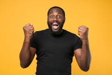 Happy African American Man Guy...