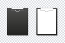 Clipboard Mockup. Vector Isola...