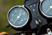 Motorcycle Speedometer Close-u...