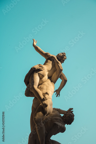 The Kidnapping of the Sabine Women, sculture in Florence Wallpaper Mural