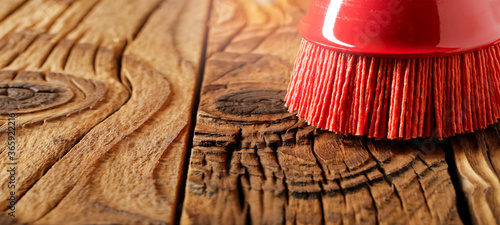 Abrasive tool for brushing wood and giving it texture Canvas Print