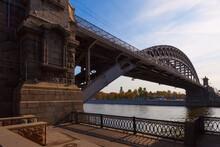 Metal Arch Bridge Over The River