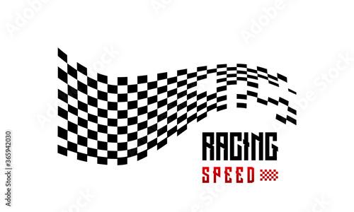 Obraz na płótnie Fast Racing Speed designs concept vector, Simple Racing Flag logo template