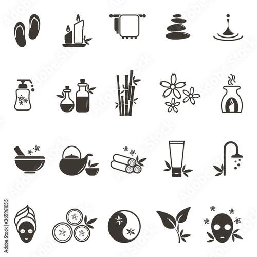 Fotografia set of spa icons