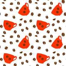 Seamless Pattern With Red Polk...