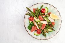 Asparagus Salad, Salad Bowl Ba...