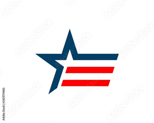 Stripes star with american theme Canvas-taulu