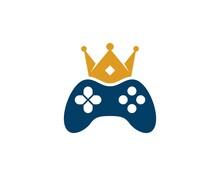 Game Console With Golden Crown