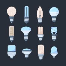 Bulbs Colored Light Set. Retro...