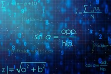 Scientific Formula Hologram On...