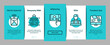 Food Delivery Service Onboarding Mobile App Page Screen Vector. Food Delivery Boy And Motorcycle, Online Order And Phone Application, Utensil And Nutrition Illustrations