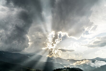 Sky Before Sunset In Carpathians