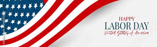 Fototapeta Labor Day banner or header