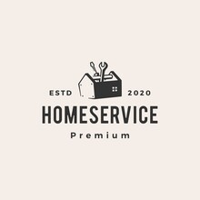 Home House Service Hipster Vintage Logo Vector Icon Illustration