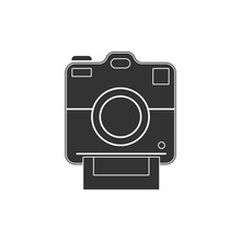 Polaroid Camera Icon. Photogra...