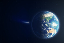 Earth View With Comet Neowise