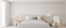White Bedroom Interior.Earth T...