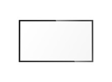Blank Hanging TV Frame With Blank White Screen - Realistic Mockup