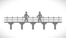 Bridge Icon With Person
