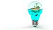 Tropische Insel - A little sea world in a light bulb