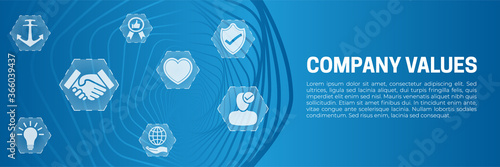 Fototapeta Company Values Abstract Modern Banner Background Vector obraz