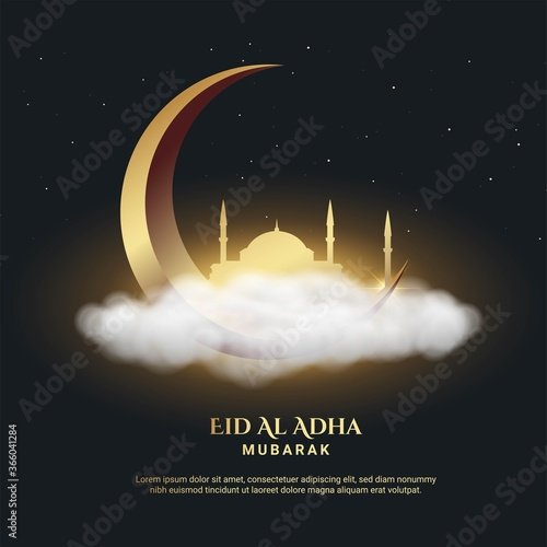 Fototapeta Eid Al Adha Background. Fit for greeting card, poster and other.  obraz