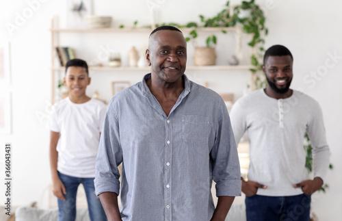 Fototapeta Three Generations Of Men