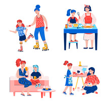 Mother And Daughter Activity S...