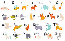 Colorful Alphabet With Cute Fu...