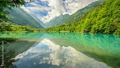 Bergsee in Tirol im Sommer Canvas Print