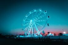 Chica Feria Neon Luces Azul Ro...