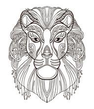 Lion Coloring Vector
