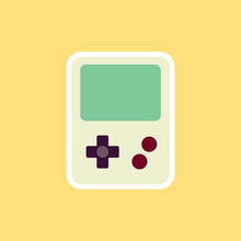 Portable Video Game, Game Boy Icon In Flat Design