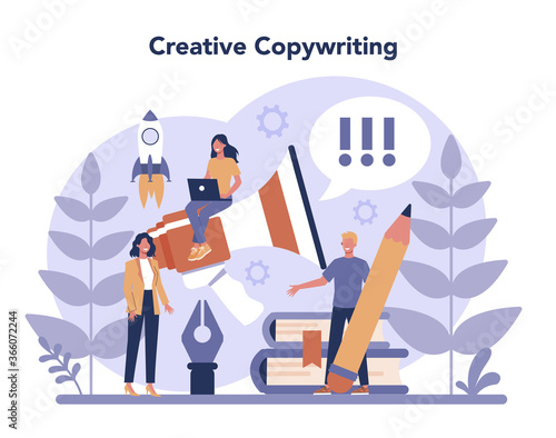 Copywriter concept Fotobehang