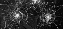 Broken Glass Window. Isolated Realistic Cracked Glass Effect